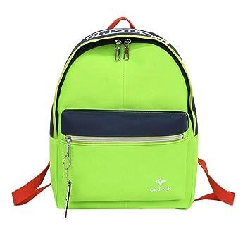 Mochila escolar unisex de moda - Saihui Color Patchwork ocio viaje niño mochila para adolescentes niñas niños lindo estudiantes mochilas parejas bolsas ...