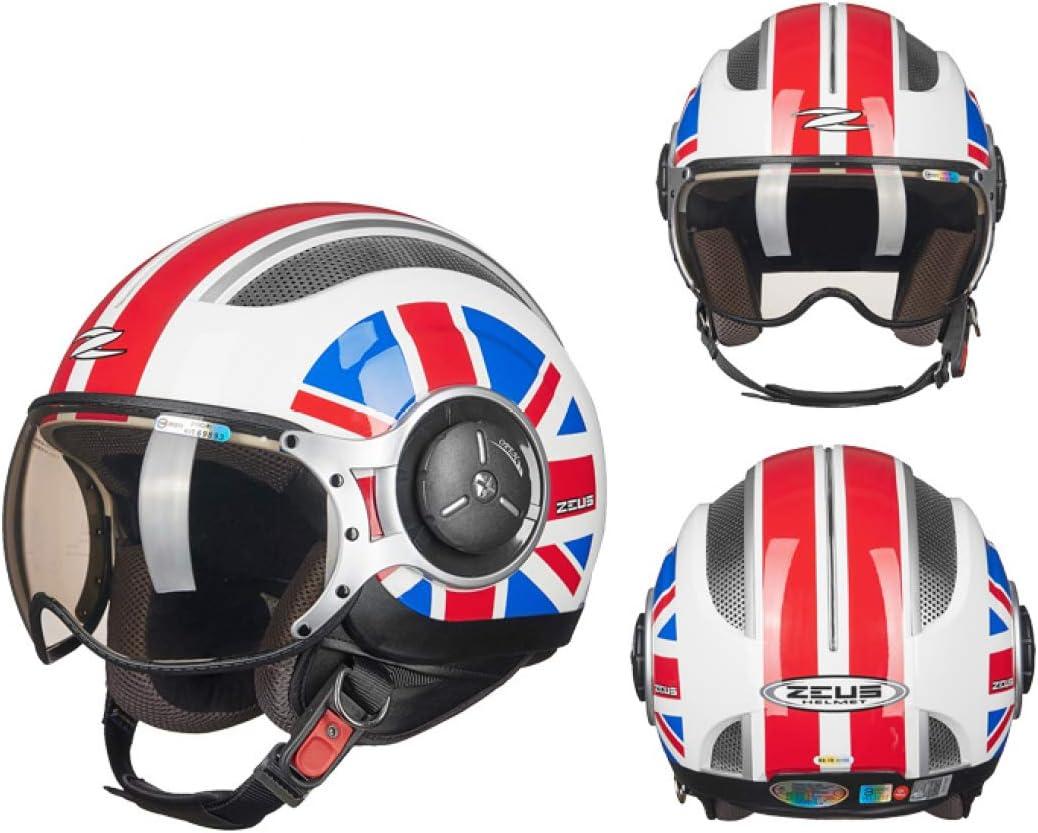 HFA Retro Moto Casco,Personalidad Negro Mate Protección UV Sombra ...