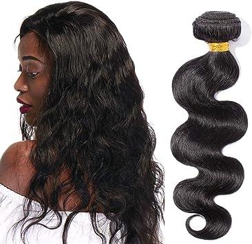Tissage Naturel Cheveux Humain Bresilien Bouclé Meches 100 Naturelles Bundles Afro Bundle Ondulé Pas Cher 8 Pouces 1b Noir Naturel Amazon Fr Beauté Et Parfum