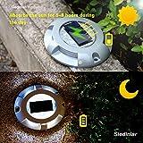 Siedinlar Solar Deck Lights Driveway Dock LED Light