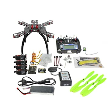Amazon qwinout full kit unassembly arf diy apm28 gps 24g 6ch amazon qwinout full kit unassembly arf diy apm28 gps 24g 6ch fs i6 remote drone combo rc fiberglass frame quacopter 1400kv motor 20a esc can upgrade solutioingenieria Gallery