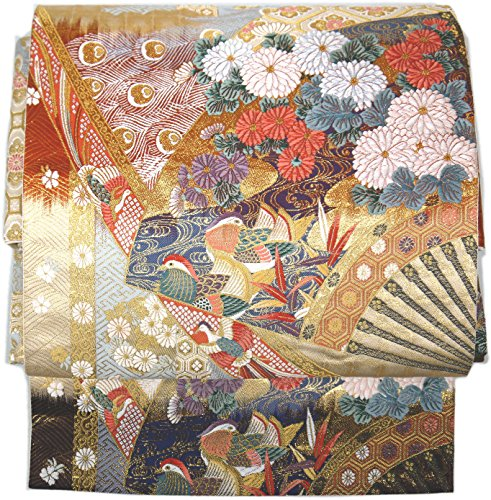不明瞭主要な付属品(桜楓) 和裁士が作った本格 二部式 正絹 作り帯 袋帯 つくり帯 軽装帯 ワンタッチ帯 LL 2L 3L 4L 5L 3008 tied obi divided into two