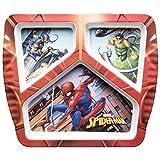 Zak! Plato de tres secciones de Designs – Thomas, Ultimate Spiderman, Multicolor, Único, 1