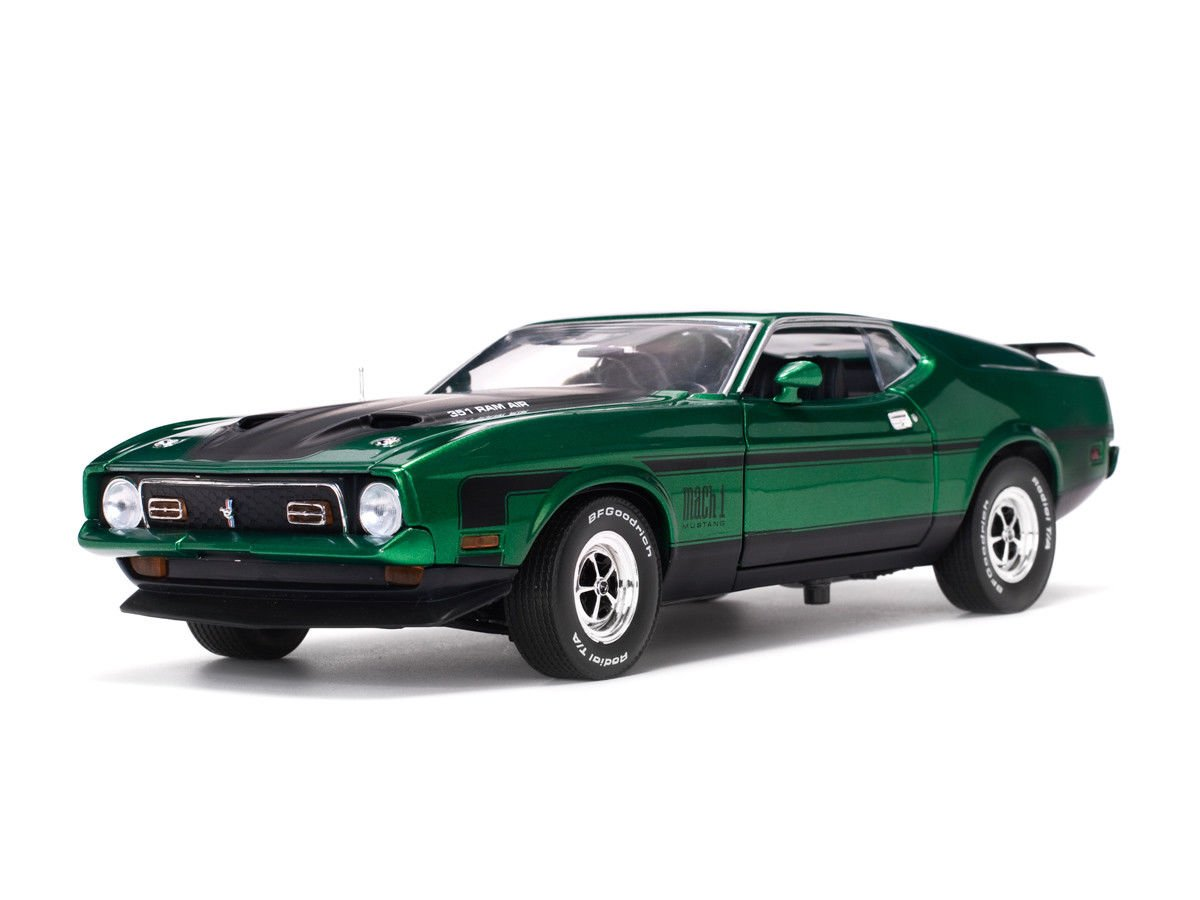 1971 Ford Mustang Mach 1 Grabber Green Ram Air 351 18 For Sale Diecast Model Car By Sunstar 3634 Toys Games
