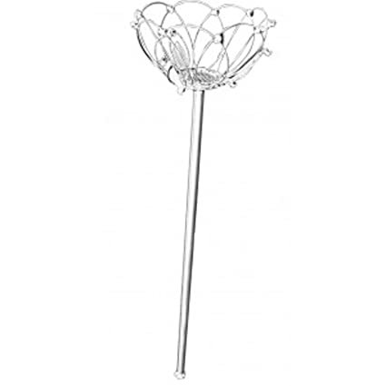 Corsage Creations Lotus Wand Silver 35cm Long Amazoncouk