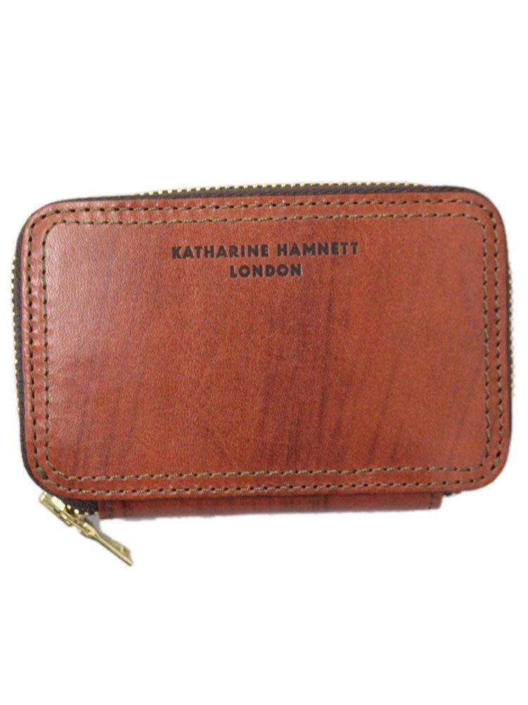 (キャサリンハムネット ロンドン) KATHARINE HAMNETT LONDON Taze RF小銭入れ ラウンドファスナー財布 全4色 B01AL7VX7U レンガ レンガ