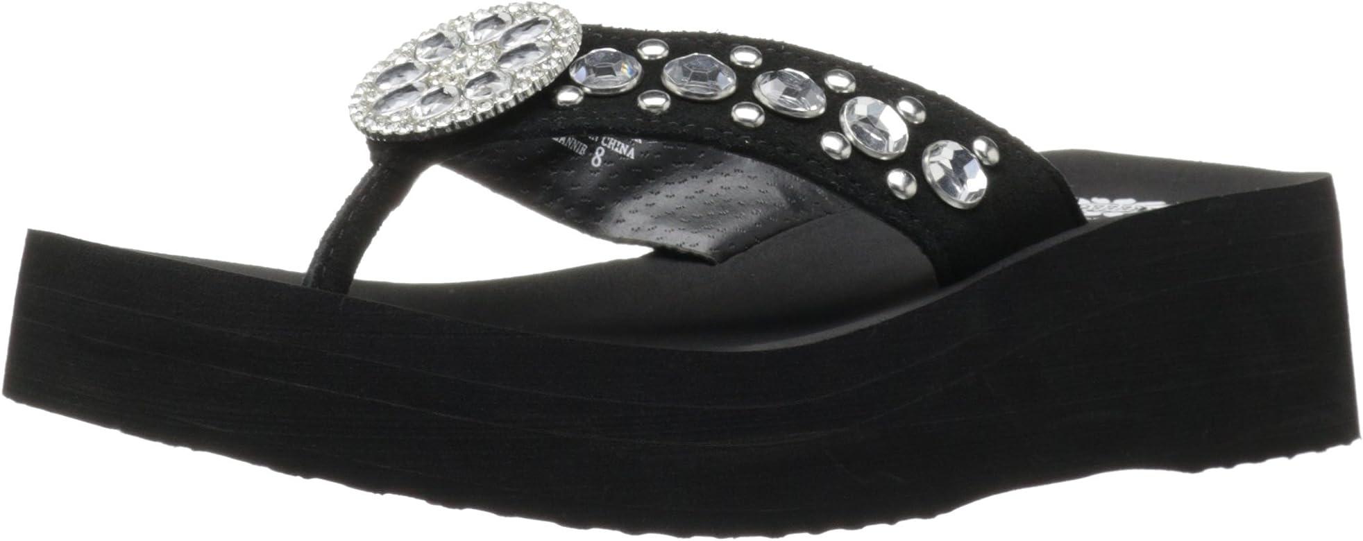 Black Choose SZ//color Yellow Box Women/'s Flax Wedge Sandal 6 M U