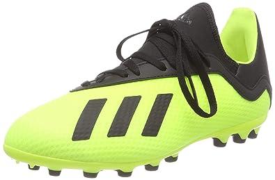 new arrival 22d2c afe18 adidas Boys  X 18.3 Ag Footbal Shoes, Core Black Solar Yellow 0,