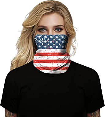 Clarisbelle Unisex Face Scarf Cover Mask Sun Dust Shield Bandanas for Fishing Cycling Running