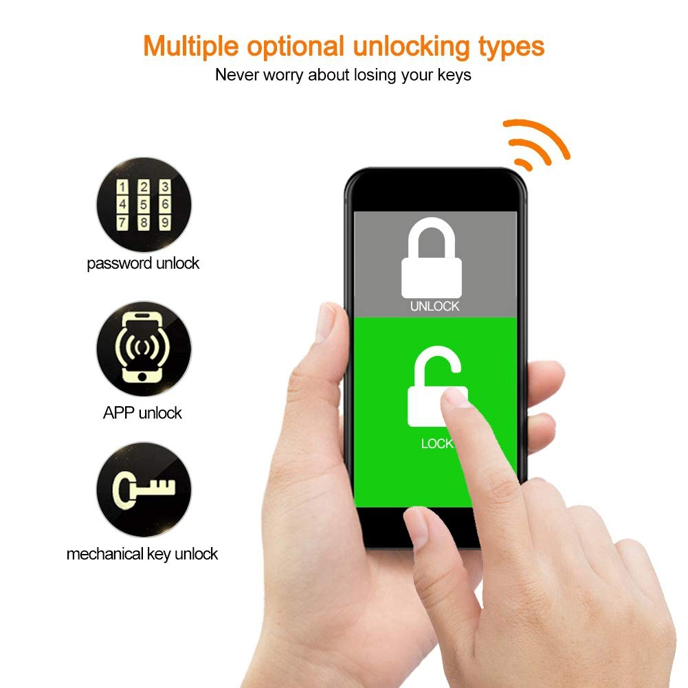 Kafuty Bluetooth App Remote Control Password Digitale Smart Door Lock per Home Hotel Apartment Professional Sistema di Blocco Porta Bluetooth 4.0 connessione