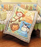 Summer Infant 4 Piece Monkey Jungle Collection Crib Set, Neutral, Baby & Kids Zone
