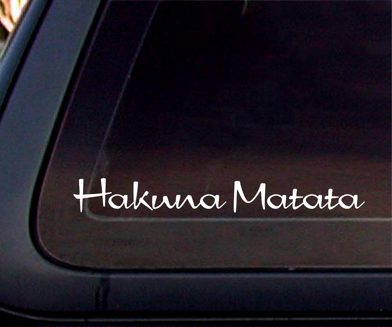 Inspirational Decal 8.2 By 1.3 Premium Black Vinyl Decal CMI485 Hakuna Matata Vinyl Decal Motivational Decal