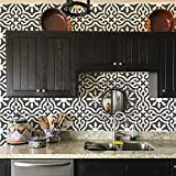 "Toledo Tile Stencil for Painting Spanish Style Tiles - DIY Kitchen Backsplash and Floor Designs (Large 12""x12"")"