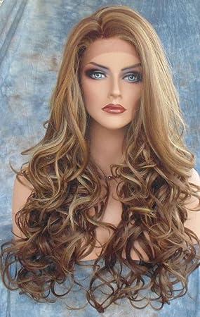 Pelucas para mujeres con flequillo,Soporte peluca Largo Volumen Peluca-A