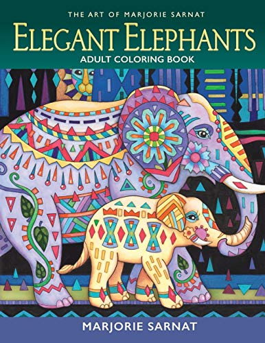 NOTICE, PLEASE READ: This Edition Is Updated and Now Includes These Original 34 Illustrations, PLUS the Midnight Version in One Giant Book! GO TO THIS AMAZON PAGE a.co/84JziJyMarjorie Sarnat delights the colorist with these original elephant illustra...