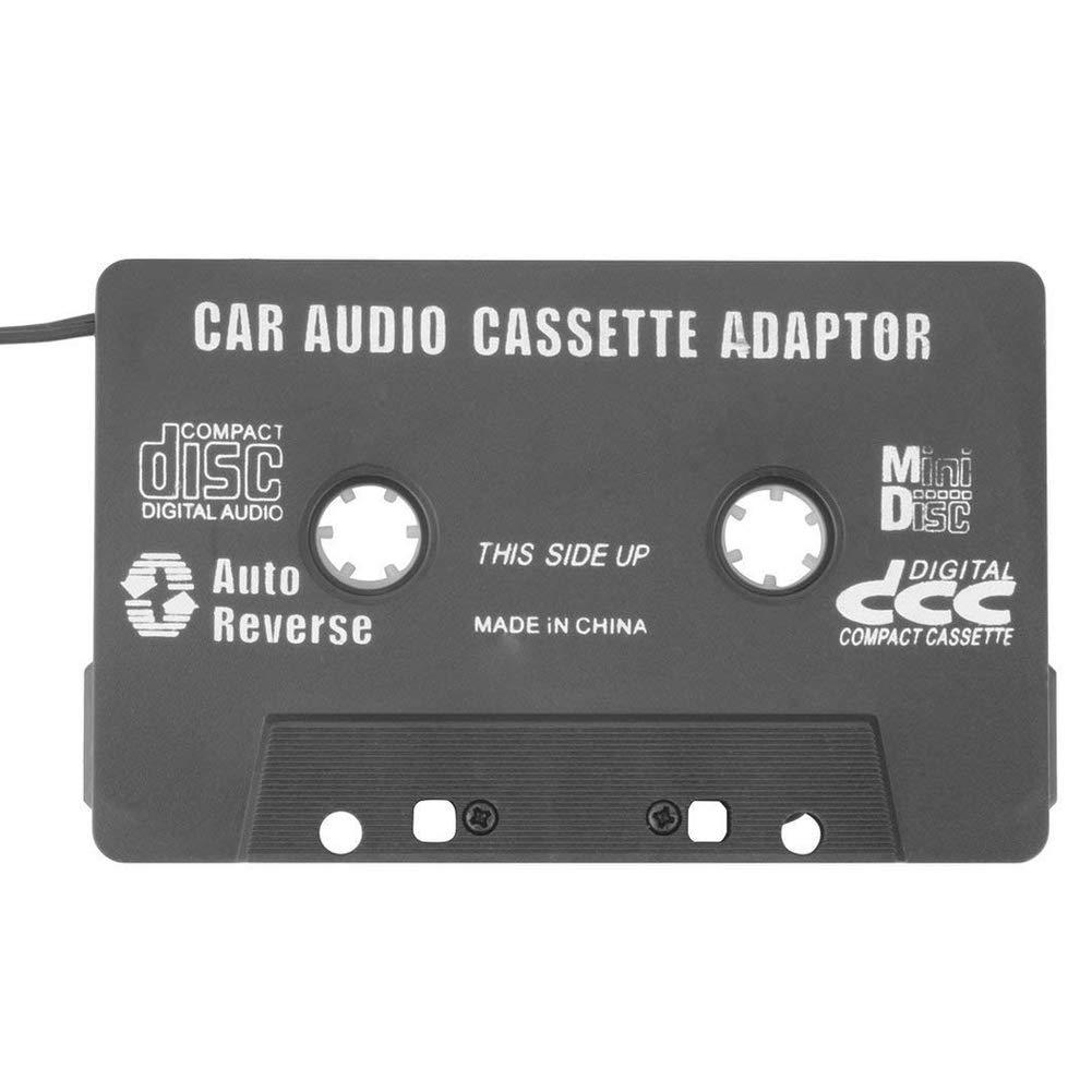 LEACK Adaptateur Cassette Voiture Cassette Audio DE 3, 5 mm Jack Adaptateur Cassette pour iPod iPhone Smartphones Noir 5mm Jack Adaptateur Cassette pour iPod iPhone Smartphones Noir