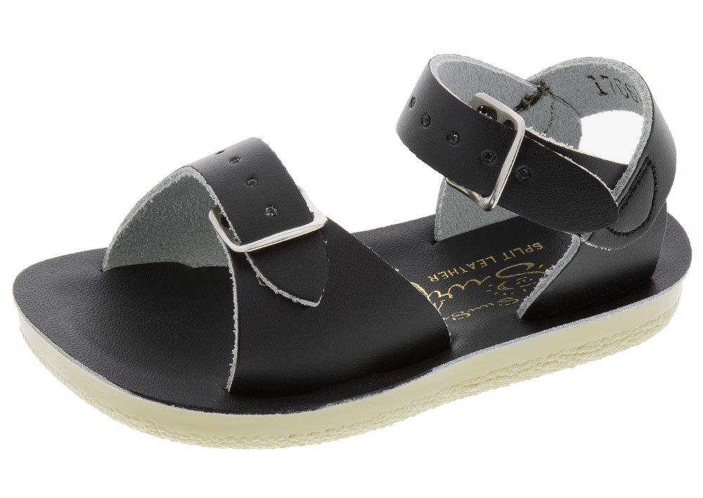Salt Water Sandals by Hoy Shoe Baby Sun-San Surfer Flat Sandal, Black, 6 M US Toddler by Salt Water Sandals