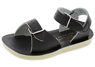 0a7a8067b Salt Water Sandals by Hoy Shoe Baby Sun-San Surfer Flat Sandal Black 3 M