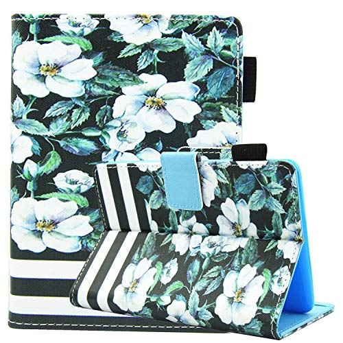 All-New Kindle Paperwhite 4(10th Generation, 2018 Release) Case, Femkeva Stand Flip Folio Protective Wallet Smart Cover for Paperwhite 4 2018 (Pear Blossom)