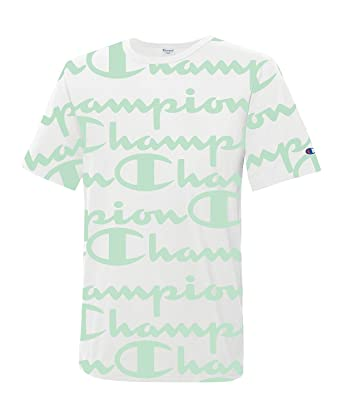 01ff9f98 Image Unavailable. Image not available for. Color: Champion Life All-Over  Script T-Shirt