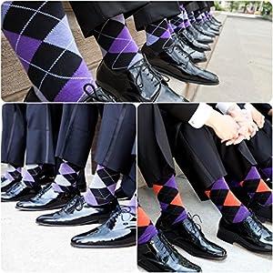 USBingoshopTM Mens Cotton Dress Socks (10-13, Argyle)