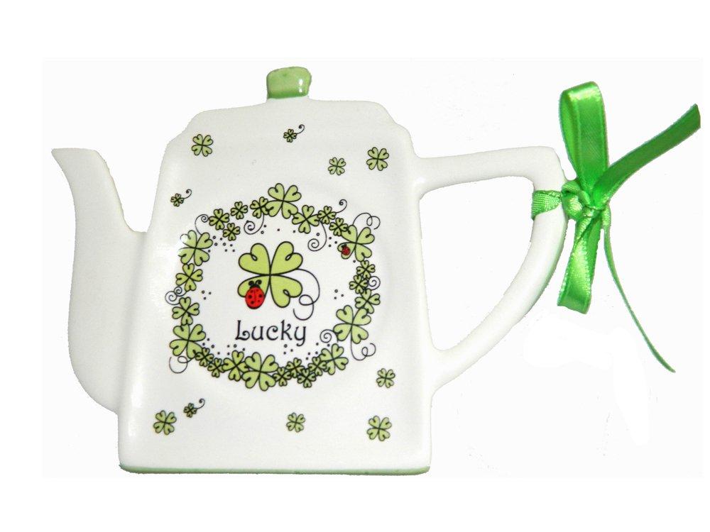 Tea Bag Holder Irish Four Leaf Clover