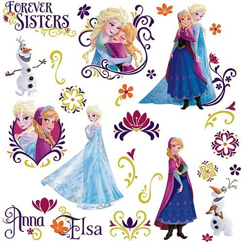 - RoomMates Disney Frozen Spring Peel And Stick Wall Decals