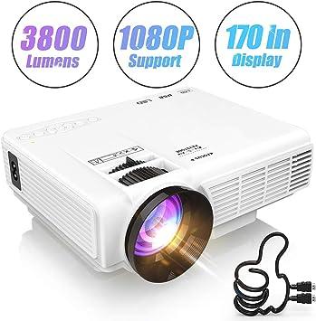 AWLLY Mini Proyector 3800 Lúmenes Proyección De Video Soporte ...