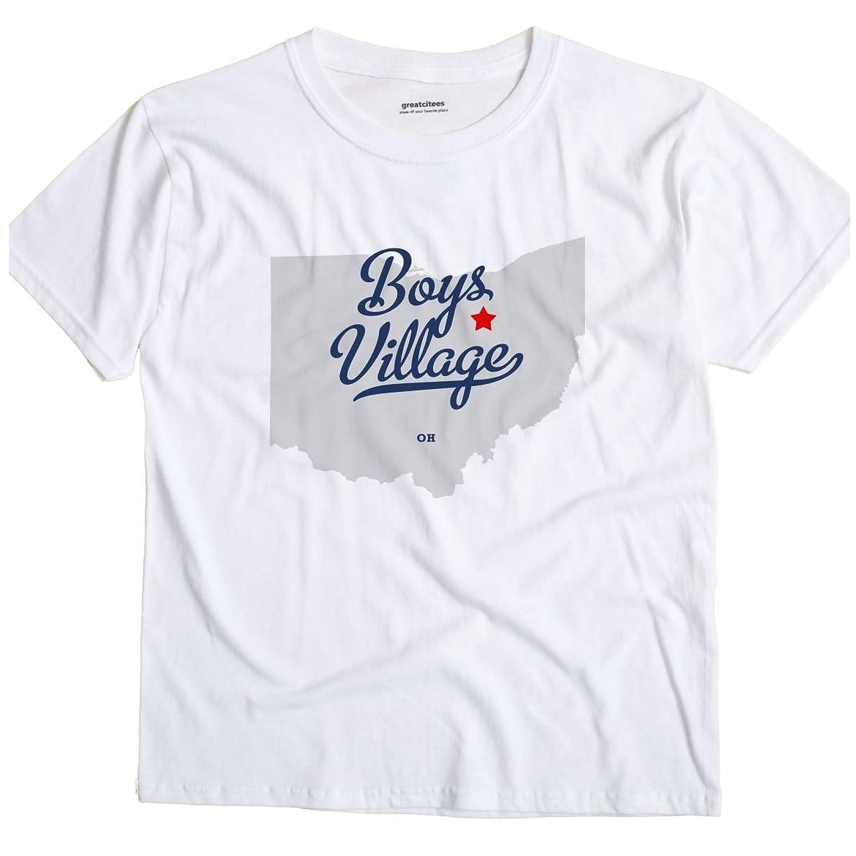 Boys Village Ohio OH MAP GreatCitees Unisex Souvenir T Shirt