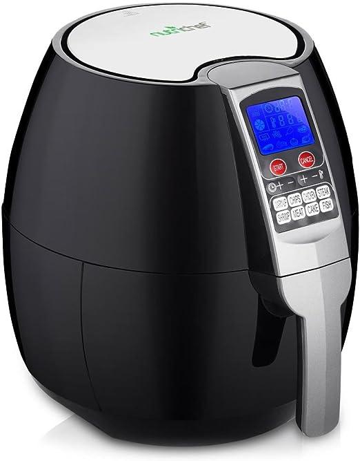 Electric Air Fryer Cooker Oil Less Dry Hot Air Steam Fryer Touch Screen 3.7Qt