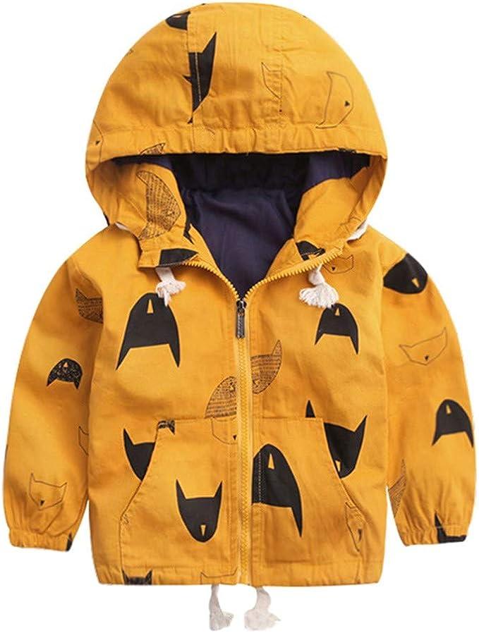 Bambini Ragazze Ragazzi Cappotto Imbottito Invernale Caldo Giacca con Cappuccio Giubbotto Neonata Baby Girl Warm Coat Abbigliamento da Bimbi Regalo 2-7 Anni