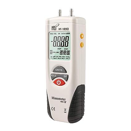 Manómetro digital, medidor de presión de aire de doble puerto ...