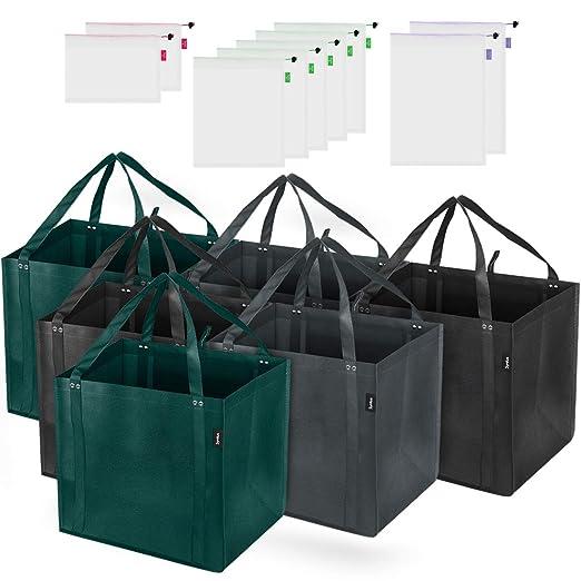 Syntus - Juego de 15 bolsas reutilizables de malla para la ...