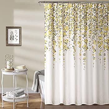 Lush Decor Weeping Flower Shower Curtain 72 X Yellow Gray