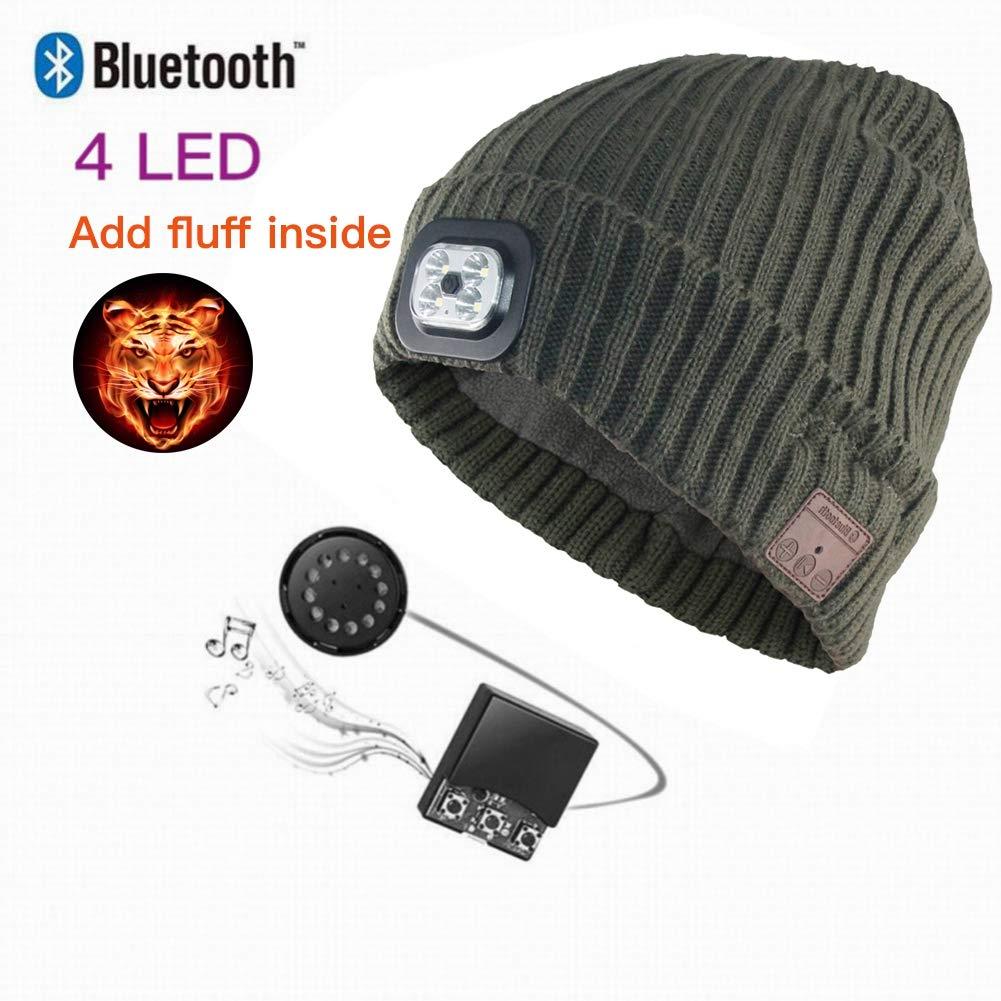 38ebb0ac42e Amazon.com  Maritown LED Lighted Bluetooth Beanie Hat
