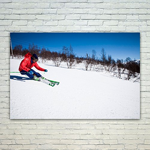 Westlake Art Ski Skiing - 12x18 Poster Print Wall Art - Modern Picture Photography Home Decor Office Birthday Gift - Unframed 12x18 Inch (Freeride Telemark Skis)