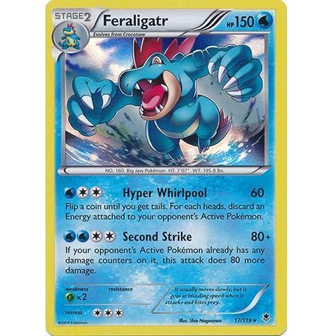 Pokemon Card Feraligatr XY Phantom Set Holo 17/119 2014: Amazon.es ...
