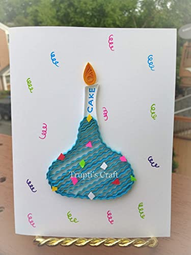 Amazon.com: Paper Quilling Chocolate Greeting Card/Wall Decor/Wall ...
