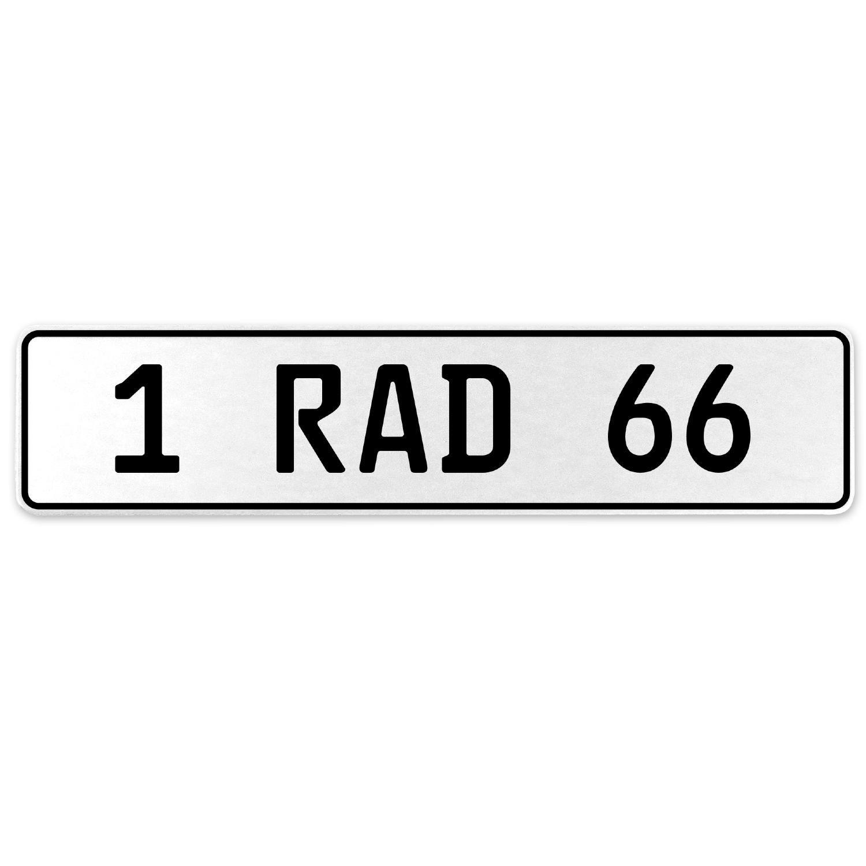 Vintage Parts 554069 1 RAD 66 White Stamped Aluminum European License Plate