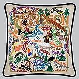 Catstudio Hand-Embroidered Pillow - Oregon