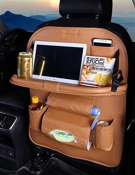 ddmlj 2Pcs Sacchetto di Organizzatore di Stoccaggio Auto Sedile Auto Indietro Antiscivolo Tappetino Copertura della Protezione per Bambini Bambini Baby Kick Mat Proteggere Borsa di Stoccaggio Auto