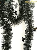 7 Pieces Tinsel Garland For Halloween Tree or Door Windows Decoration, Shinny Party Accessory TG005