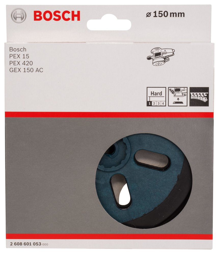 Bosch 2608601053 Grinding Plate For GEX150AC Hard 5.9In C /& J Direct GmbH /& Co KG