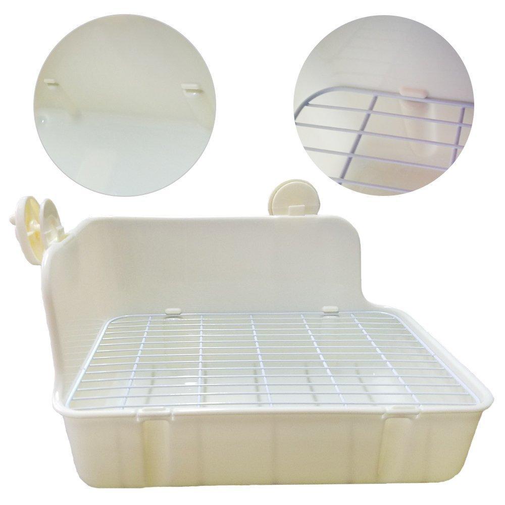 ZoeZ Square Potty Trainer Corner Litter Bedding Box Pet Pan for Small Animal/rabbit/guinea Pig/galesaur/ferret by ZoeZ (Image #6)
