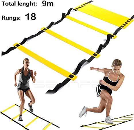 SeaNpem Escalera de agilidad con bolsa de transporte, escalera ...