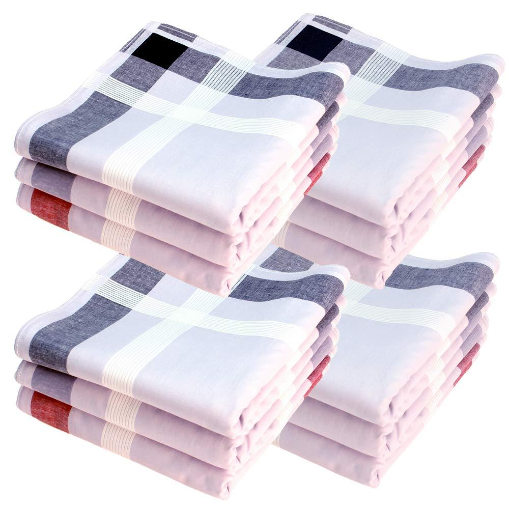 Taschent/ücher 12 St/ück ca.40x40cm reine Baumwolle verschiedene Designs