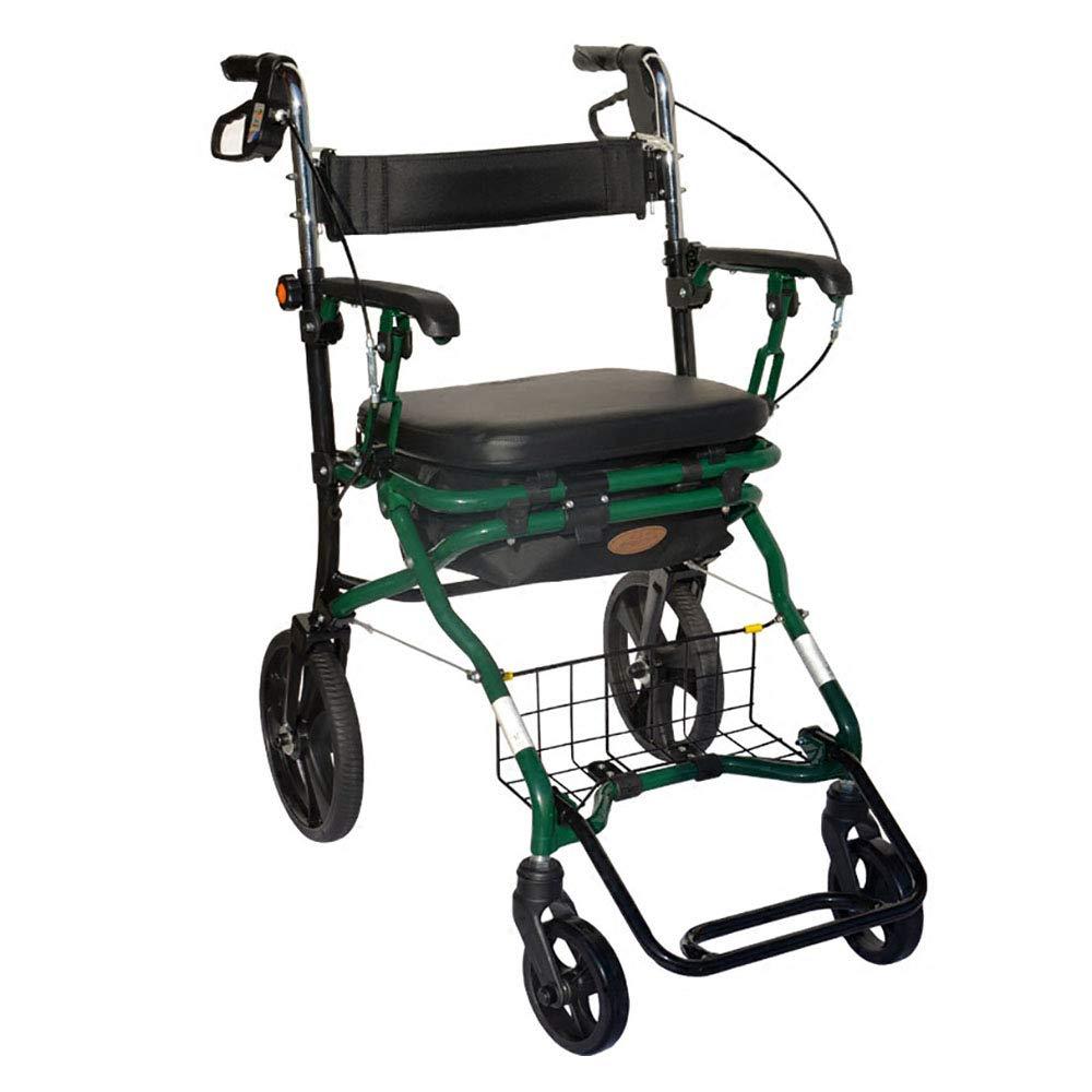 H.JPT rollator de Aluminio, Ligero Andador para Ancianos con ...