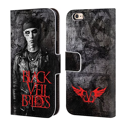 Official Black Veil Brides Andy Band Members Leather Book Wallet Case Cover for iPhone 6 / iPhone 6s