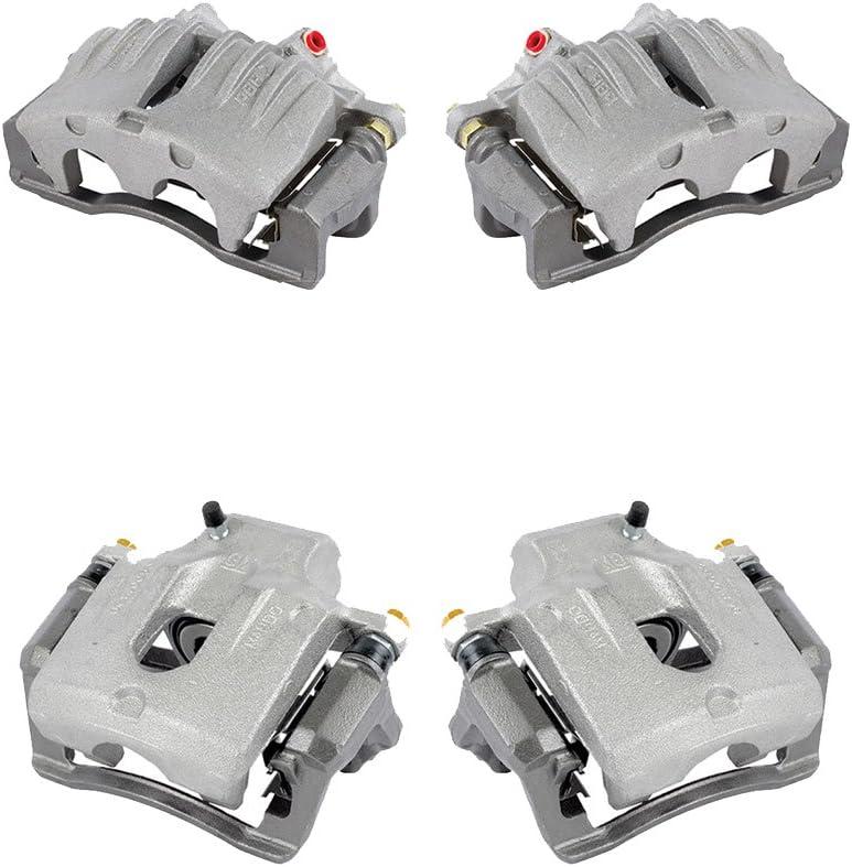 REAR Premium Semi-Loaded Original Calipers Hardware Brake Kit FRONT Callahan CCK04012 4
