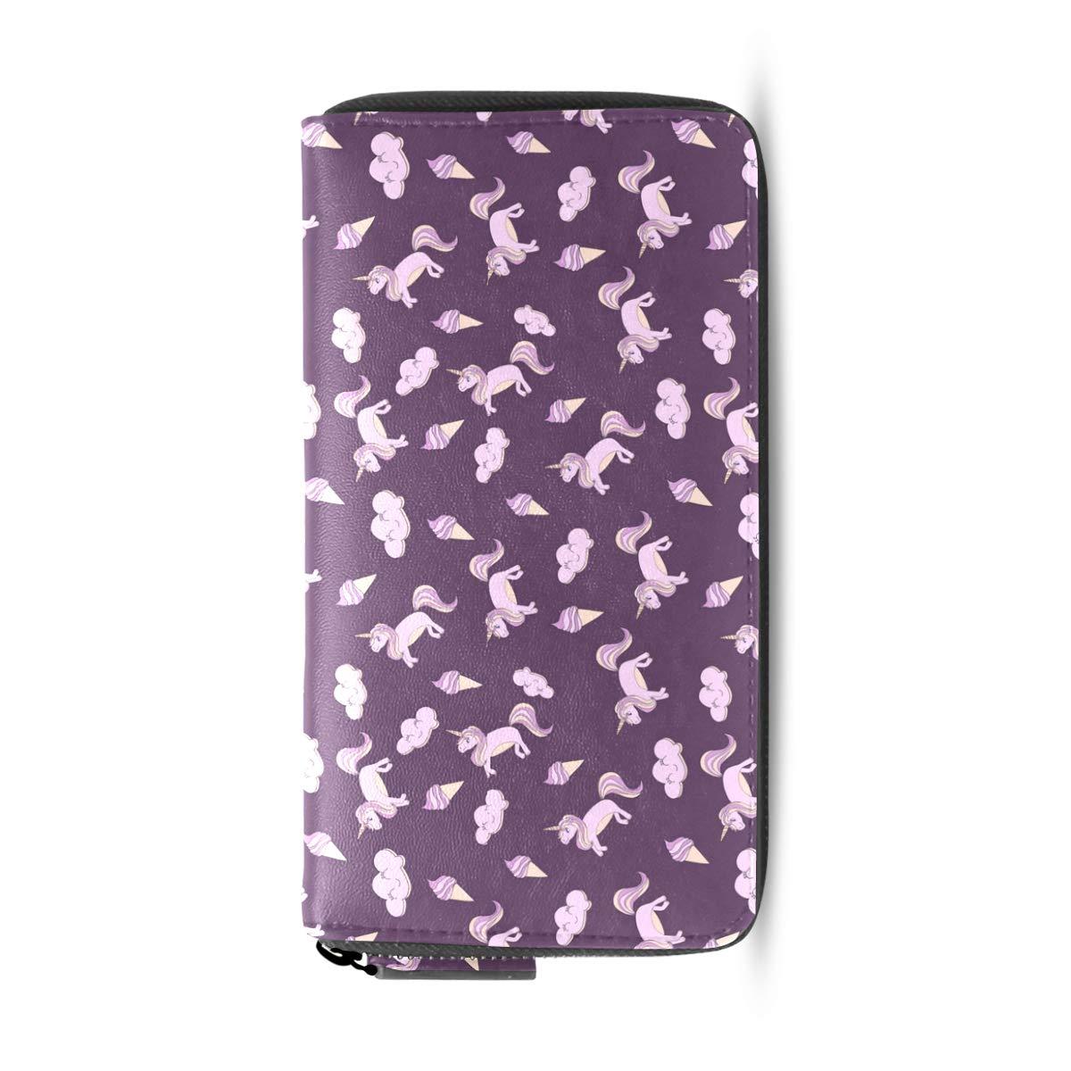 Amazon.com: Monedero para mujer, diseño de unicornio de ...